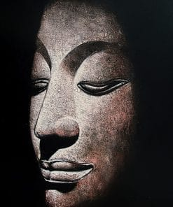 Buddha Oil Painting Sandstone Buddha