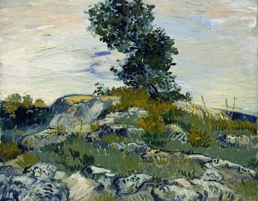 The Rocks Oil Painting Van Gogh Replica